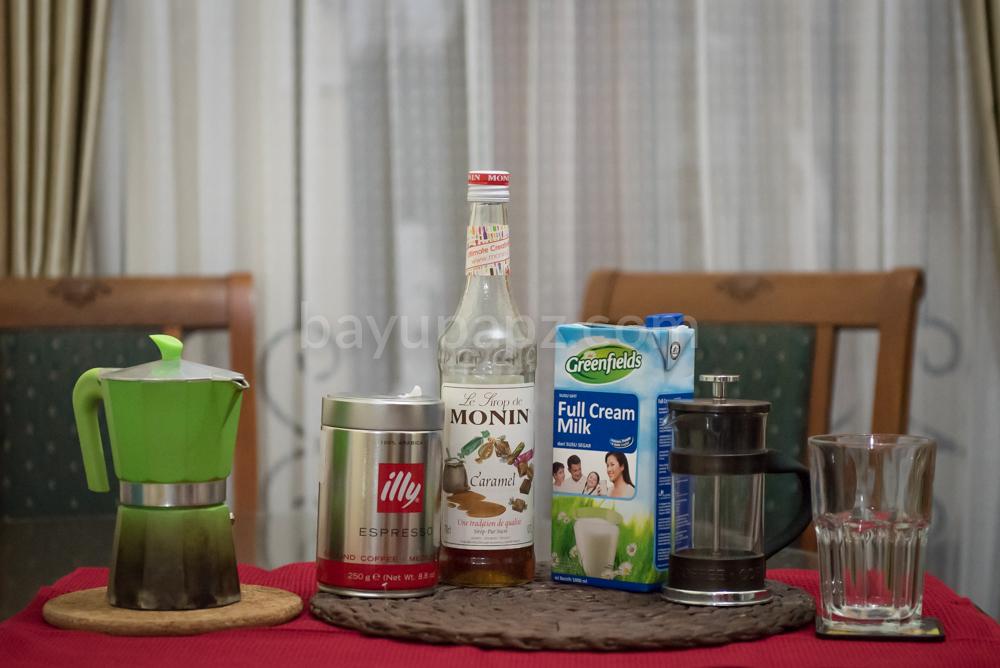 homemade caramel coffee latte mokka pot french press illy 1