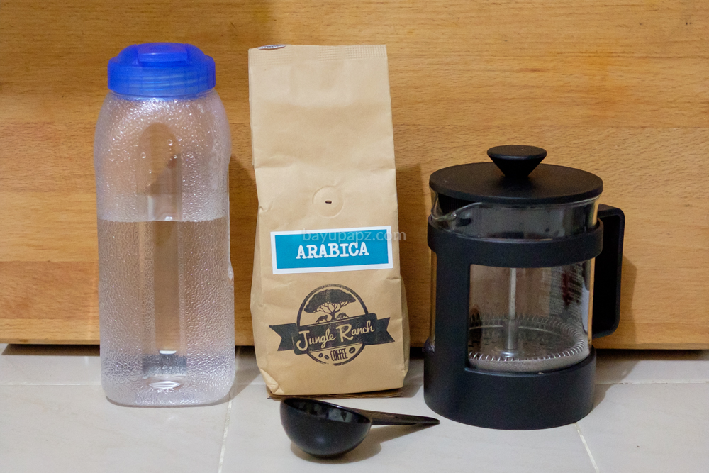 cara membuat cold brew coffee sendiri french press 1