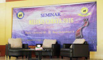 Mengisi Seminar Fotografi Dasar di Acara Melukis Cahaya 2016 Club Photography Universitas Djuanda Bogor